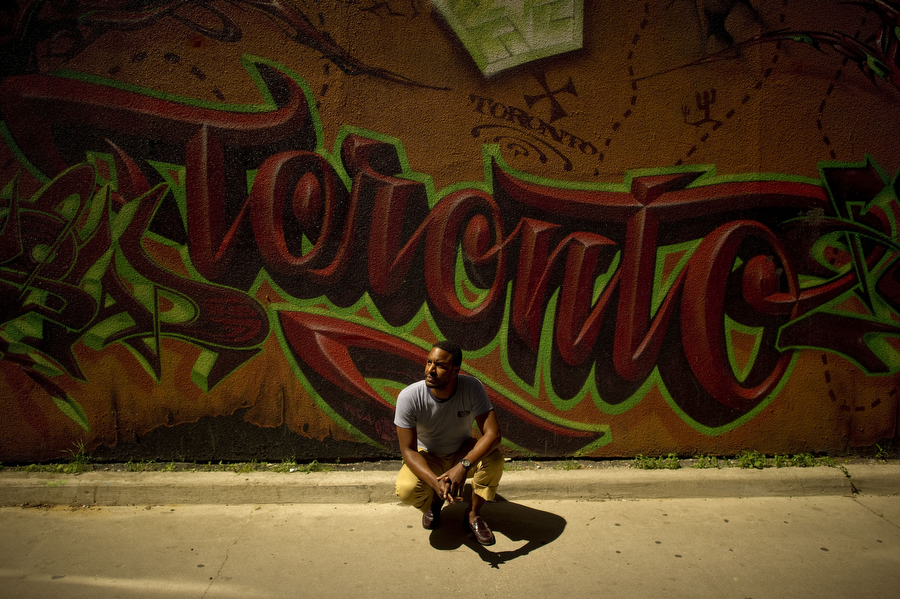 Toronto is throwing out its graffiti bylaw and starting over. Zion, a graffiti artist who owns the shop The Bomb Shelter, helped broker the repeal by the city on behalf of the graffiti community. June 14, 2011 CARLOS OSORIO/TORONTO STAR